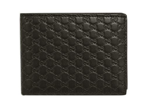 グッチ 財布 333042-2044 GUCCI メンズ 二つ折り 札入れ 横長 取り外しカードケース マイクログッチッシマ ブラウン アウトレット