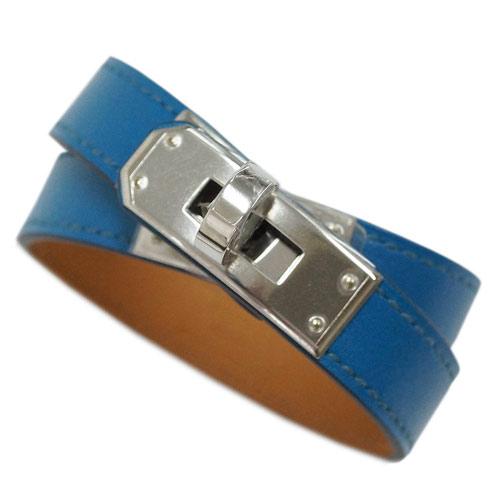 エルメス ブレスレット H066853CK7W HERMES ソルド アクセサリー KELLY DT ヴォータデラクト ブルーイズミール ブルー シルバー金具 Sサイズ キャッシュレスで5%還元!