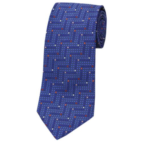 ミッソーニ ネクタイ MISSONI メンズ ジャガード デザイン シルク100% ネイビー/ブルー/レッド/ホワイト 30802 アウトレット