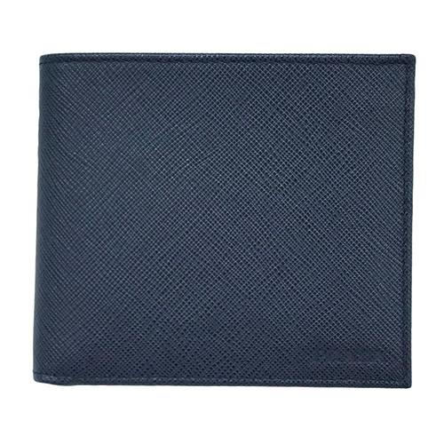 プラダ 財布 2MO738 PRADA メンズ 二つ折り 小銭入れ付き サッフィアノ 1 BALTICO バルティコ カーフネイビー アウトレット