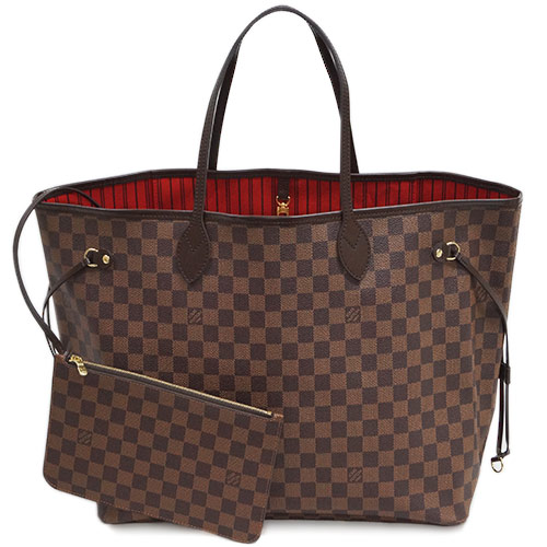 Louis Vuitton Bags Damier Lv Tote Bag Pouch Neverfull Gm Even N41357