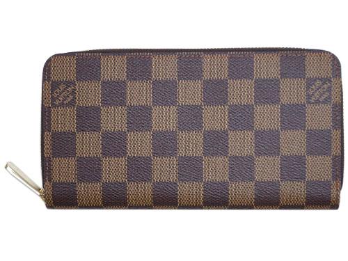ルイヴィトン 財布 N41661 LOUIS VUITTON ヴィトン LV ダミエ ラウンドファスナー長財布 12枚カード ジッピー・ウォレット エベヌ