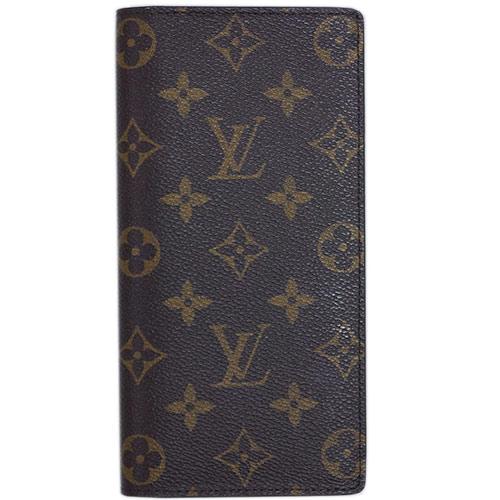 4ea3bfc98b46f Louis Vuitton wallet LOUIS VUITTON Vuitton LV monogram men long wallet  fastener long label ポルトフォイユ brother M66540
