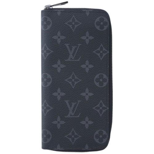 ルイヴィトン 財布 M62295 LOUIS VUITTON ヴィトン モノグラム・エクリプス LV メンズ ラウンドファスナー長財布 ジッピー・ウォレット ヴェルティカル