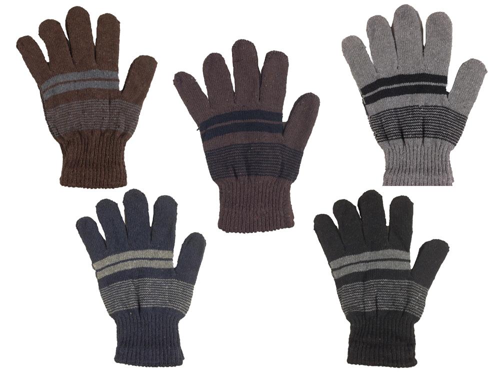 指先まで包む5本指ボーダー手袋 送料無料 メール便 最新 郵便 ボーダー五本指手袋 MST1405 寒さ対策 情熱セール グローブ ミトン 男女兼用 ボーダー 手袋 防寒グッズ ニット手袋