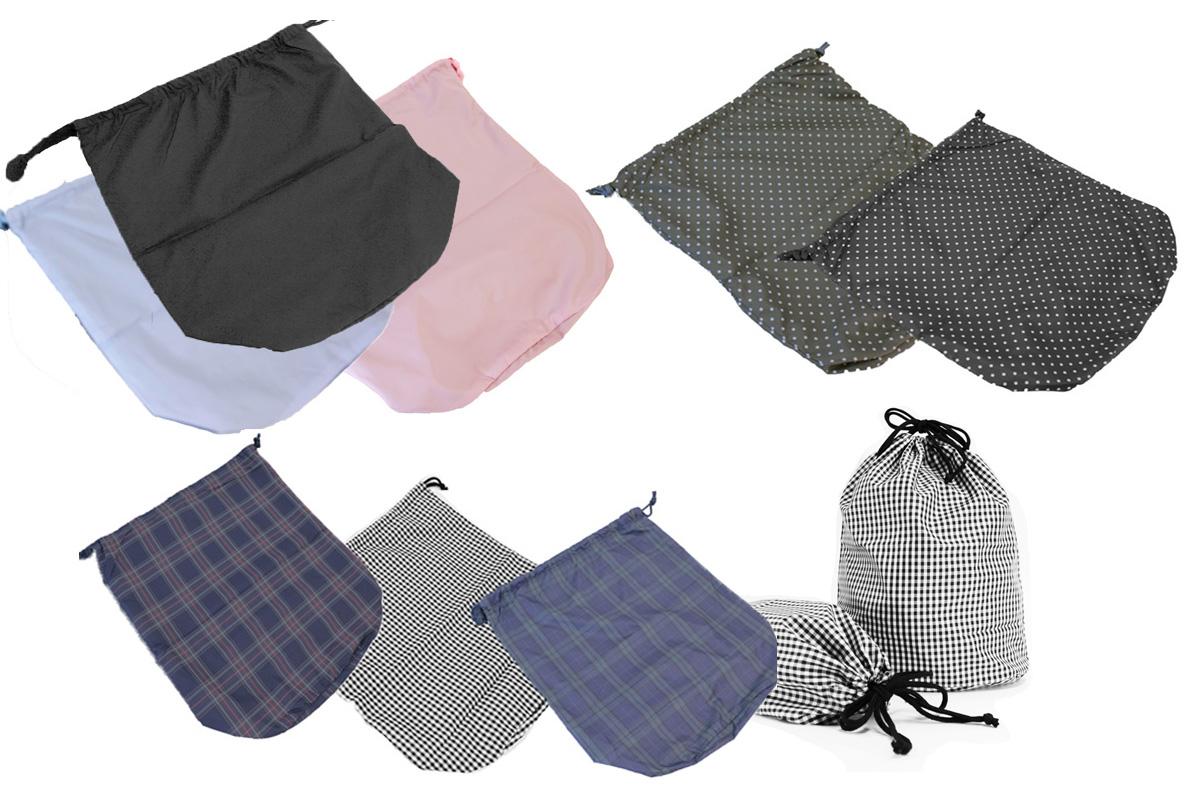 シンプルでオシャレな巾着袋 ショッピングバッグ 通園 通学 オフィスにも小さく畳んで持ち運びに便利なエコバッグ 裏がメッシュ生地仕様で丈夫な2枚仕立て 送料無料 メール便 メッシュ裏地付巾着袋 マチあり ショッピングバック エコバック お着替え袋 サブバック チェック 2020A W新作送料無料 インナーバック 公式ストア 小物整理ポーチ 旅行便利グッズ 無地 体操着入れ バックインバック 水玉 旅行整理袋