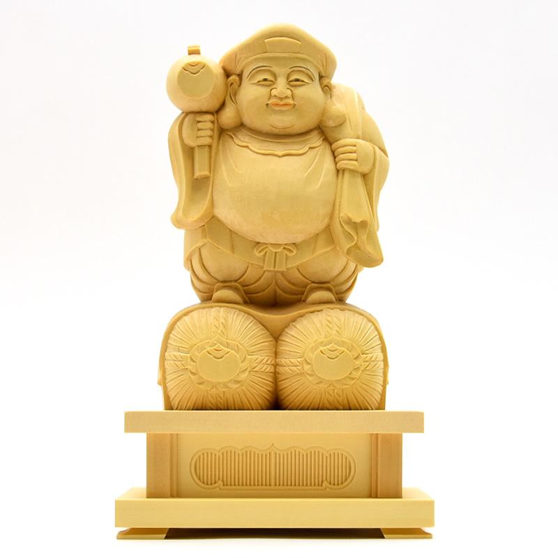 木彫り仏像 【大黒天立像】 桧 立3.5寸 総高23cm