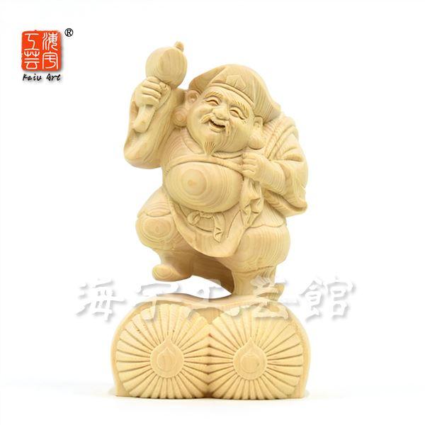 木彫り仏像 【招福大黒天】 桧木 高さ15cm