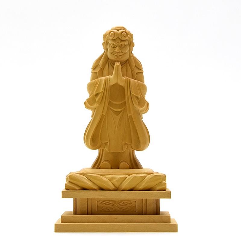 木彫り仏像 柘植【中山鬼子母神立像】 立3.5寸 総高約17cm 【日蓮宗】脇仏