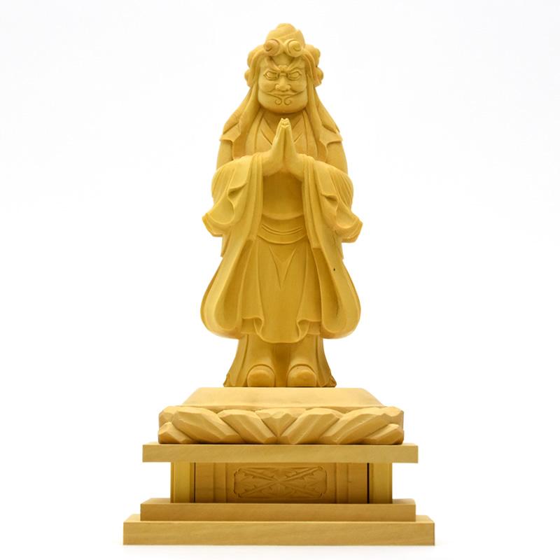 木彫り仏像 【中山鬼子母神立像】 柘植(つげ) 立4.0寸 総高約19.5cm 【日蓮宗】脇仏