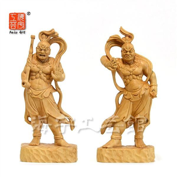 木彫り仏像 【仁王像(金剛力士)】 柘植 高15cm