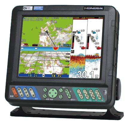 ホンデックス HE-8S 8.4型GPSデジタル魚探 アンテナ内蔵タイプ