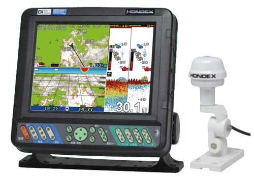 ホンデックス HE-8S 8.4型GPSデジタル魚探 アンテナ外付タイプ