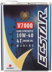 メーカー品番:99000-21EA2-047 配送員設置送料無料 スズキ純正 4サイクル船外機オイル V7000 エクスター 4L 上等