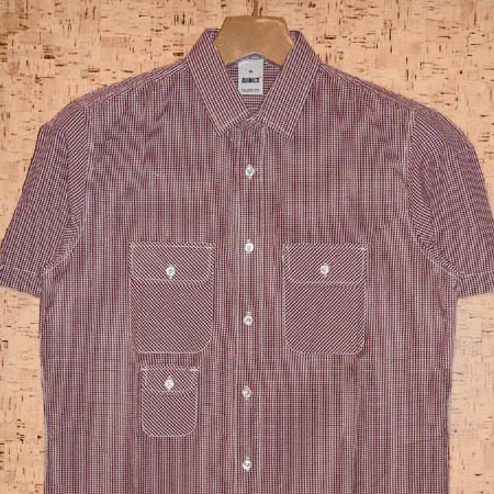 ADDICT [アディクト] 半袖シャツADM13902 NORTHERN SHIRT-MICRO GINGHAM-