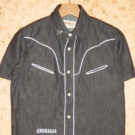 ANIMALIA [アニマリア] 半袖シャツAN15U-SH06 ROUNDER #001