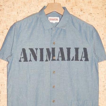 ANIMALIA [アニマリア] 半袖シャツAN15U-SH04 BRIGADE-STENCIL