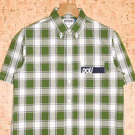 DOUBLE STEAL [ダブルスティール] 半袖シャツ772-35003 DOU POCKET CHECK B.D SHIRT