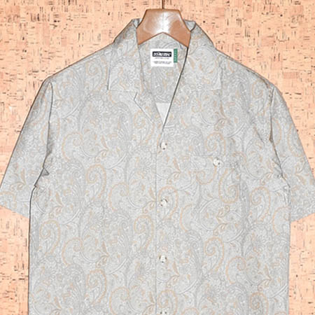 DOUBLE STEAL [ダブルスティール] 半袖シャツ702-35013 PAISLEY OPEN SHIRT