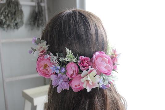 【髪飾り】【ヘッドドレス】*オールドローズ*海外ウエディング/披露宴/二次会/結婚式/前撮り
