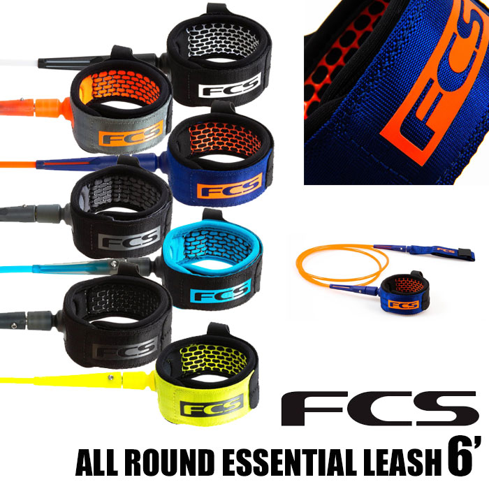 FCS ALL ROUND ESSENTIAL LEASH7' LEASH 7'サーフィン リーシュ 高品質 流れ止め ショートボード 格安店 FCS2