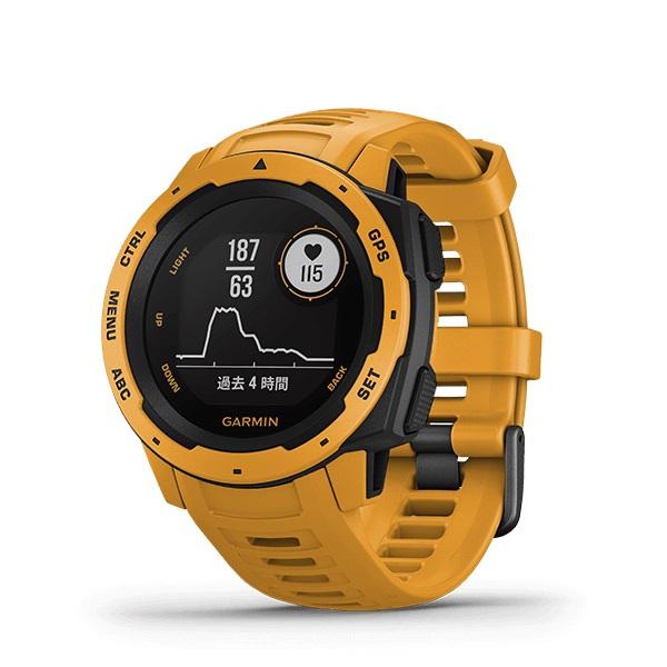 GARMIN ガーミン/GPSウォッチInstinct Sunburstインスティンクト【SUP S.U.P パドルボード】【SUPトレーニング】【送料無料】