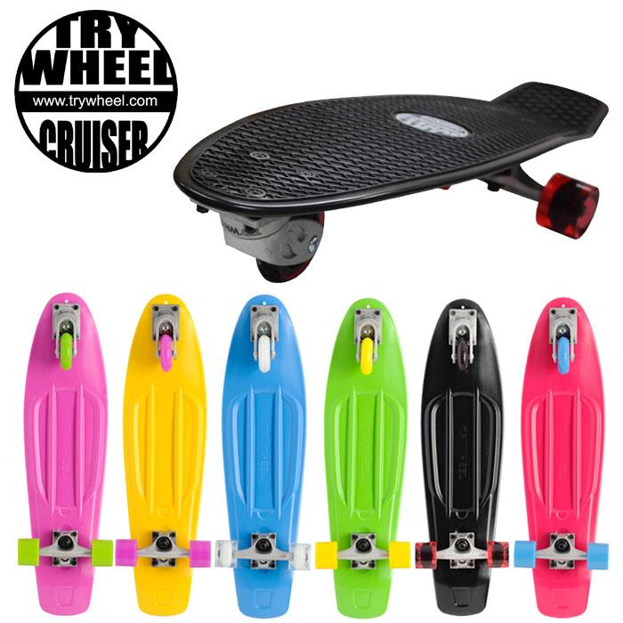 TRY WHEEL CRUISERトライウィール クルーザー【3輪スケートボード】【スケボー SK8】【送料無料】【クルーザーボード】【街乗り】