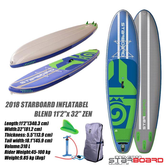 トップ 2018 STARBOARD INFLATABEL BLEND 11'2