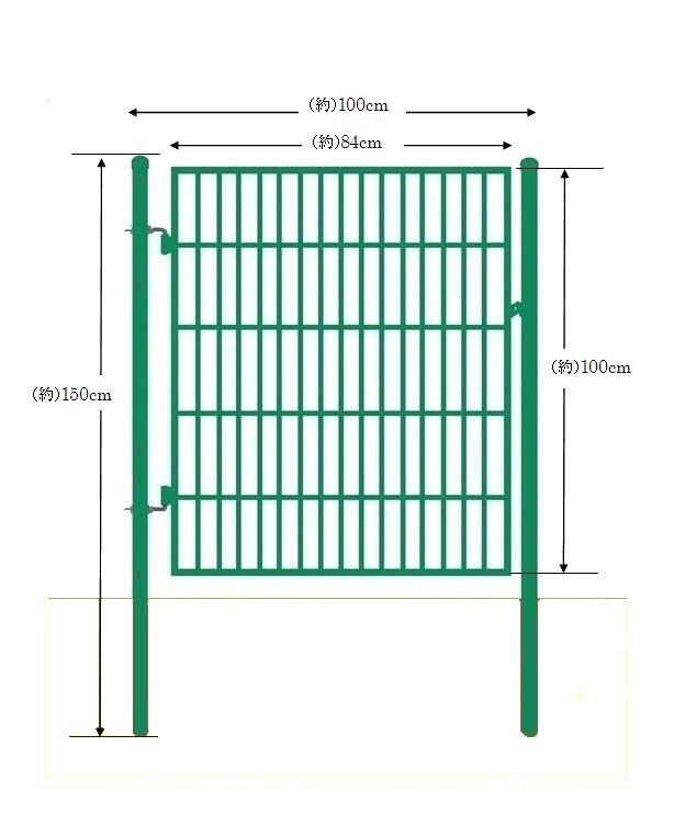 フェンス内への出入りがとても便利になります フェンスAF-1000用簡易扉 とびら 門扉 出入口 ☆新作入荷☆新品 片開き 扉と門柱セットです 取付簡単 ゲート 絶品