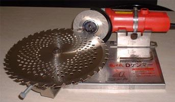取扱説明ビデオ付 カンタンチップソー研磨機 ダイヤ砥石+低速グラインダー付 即日出荷 評価