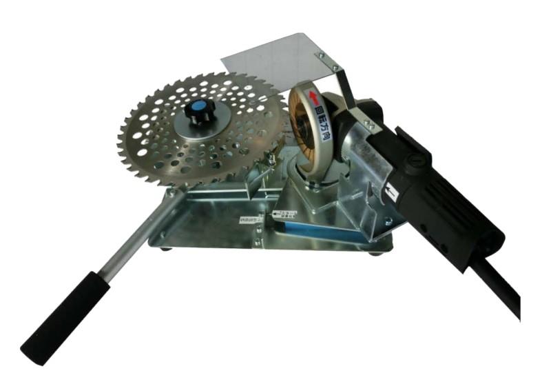 刈払機用 チップソー研磨機 変速グラインダー付正確な刃送り 微調整切込み アサリ研ぎ 切込み樹脂スライドレール採用