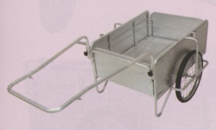 オールアルミ製・ノーパンクタイヤ「折りたたみ式リヤカー」小(最大積載重量100kg)