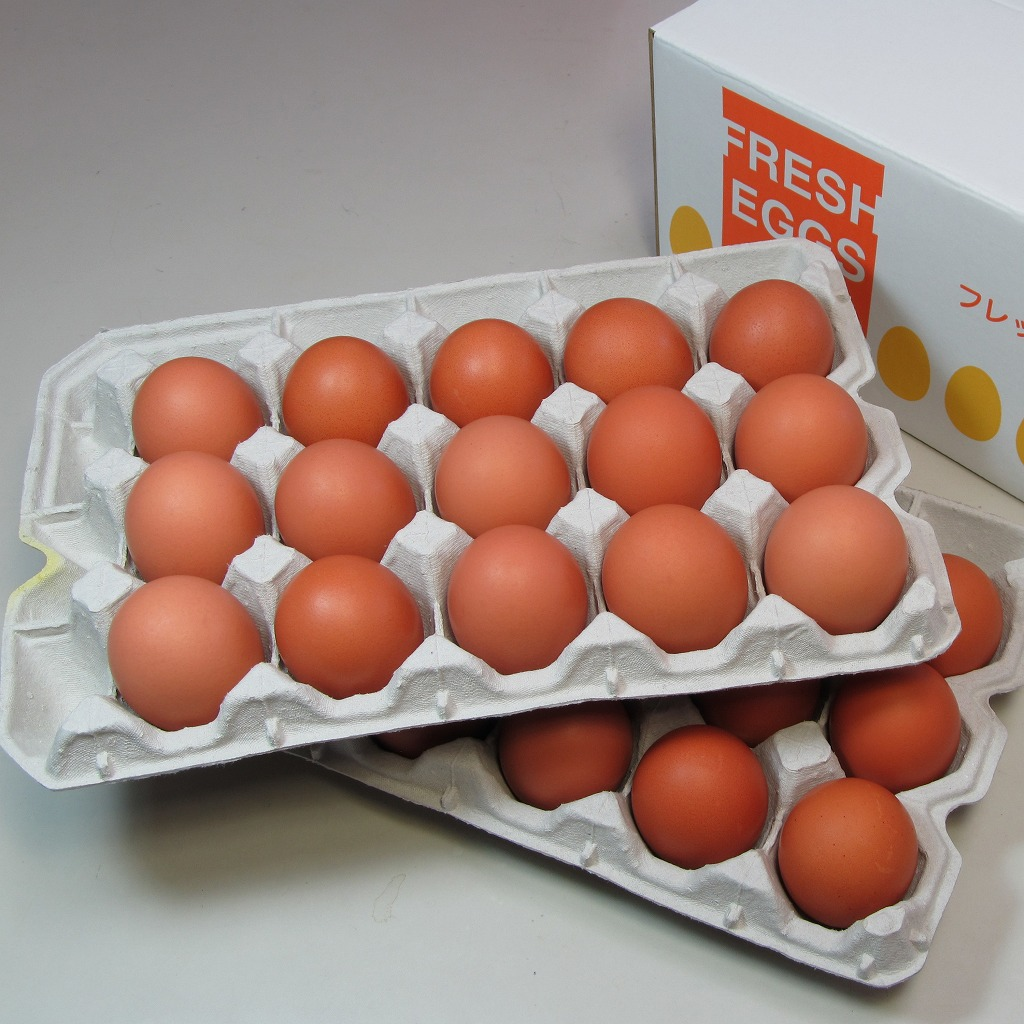 花たまご (30個) 一部地域を除き【送料無料】 卵 玉子 タマゴ たまご 鶏卵 赤殻 赤がら 新鮮 産みたて 産直 産地直送 Non-GMO ノンGMO ポストハーベストフリー PHF こだわりの飼料 安心 安全 卵かけごはん たまごかけごはん
