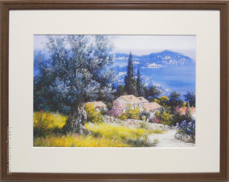 ビンセント・スミス 絵画 南仏ニースの丘から アートポスター 送料無料 【複製】【アートポスター】【世界の名画】【変型特寸】