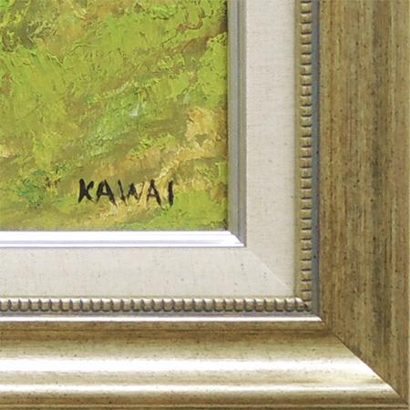 絵画油絵忍野富士山麓(川合修二)