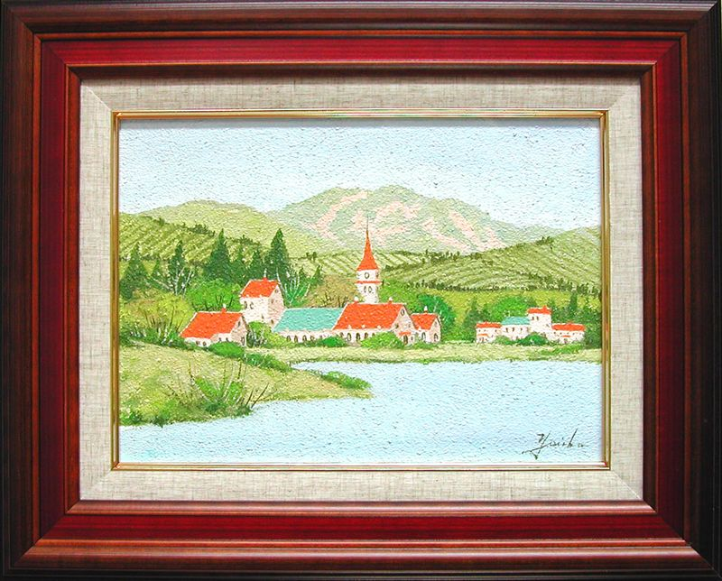 絵画 油絵 ドイツ ドレスデン風景  (加瀬洋子) 送料無料 【肉筆】【油絵】【外国の風景】【3・4号】