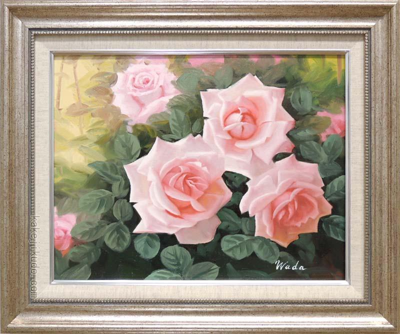 絵画 油絵 ばら (和田宏) 送料無料 【肉筆】【油絵】【花】【6号】