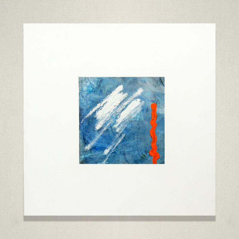 絵画(アクリル画) ちょっと雨だけど大丈夫 (藤田良美) 送料無料 【肉筆】【油絵】【抽象画】【変型特寸】