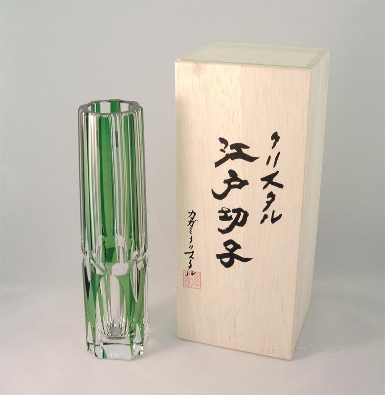 Kakejiku Rakuten Global Market Edo Kiriko Cut Glass Bud Vase