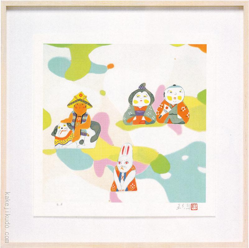 伊藤髟耳 絵画 『家族』 送料無料 【複製】【美術印刷】【巨匠】【変型特寸】