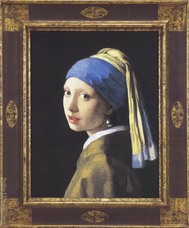 フェルメール 絵画 真珠の耳飾りの少女(青いターバンの少女) 送料無料 【複製】【美術印刷】【世界の名画】【変型特寸】
