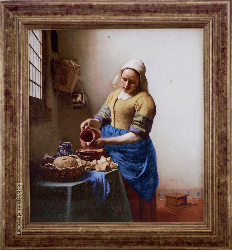フェルメール 絵画 牛乳を注ぐ女 送料無料 【複製】【美術印刷】【世界の名画】