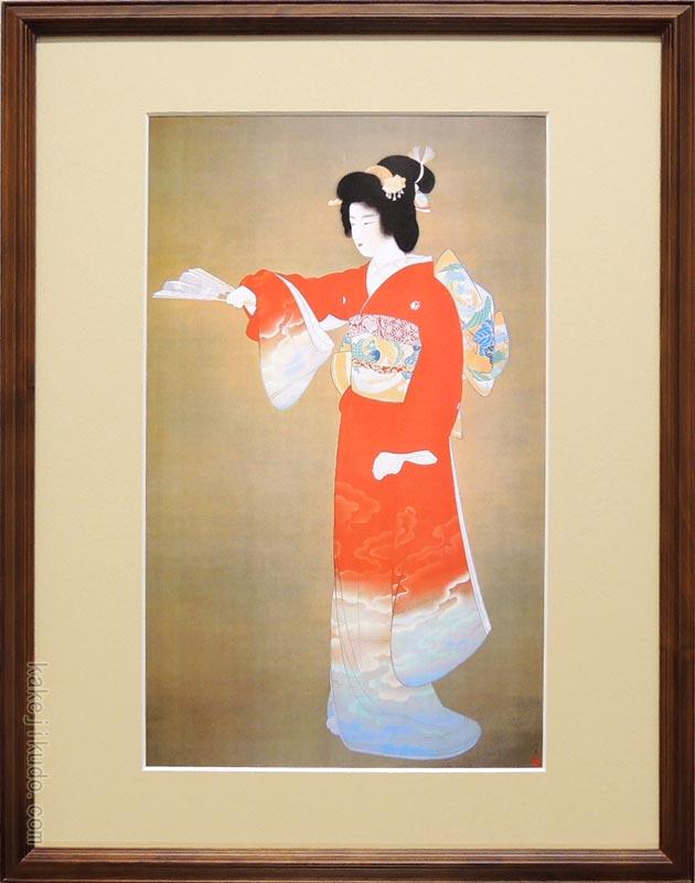 上村松園 絵画 『序の舞』 送料無料 【複製】【美術印刷】【巨匠】【変型特寸】