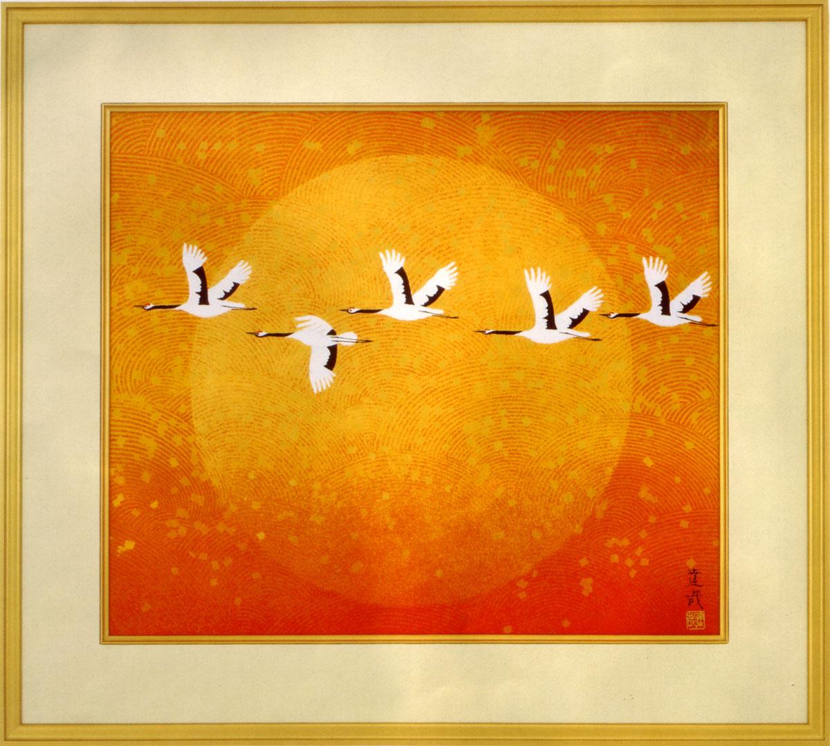 石踊達哉 絵画 翔 送料無料 【複製】【美術印刷】【巨匠】【変型特寸】