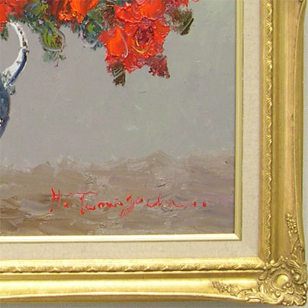 Picture oil painting rose F30 (Haruhiko Taniguchi)