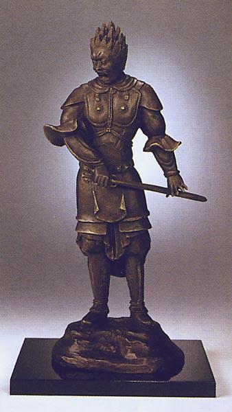 国宝十二神将 伐折羅大将(ばさら) ブロンズ像(複製) 送料無料