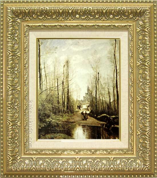 コロー 絵画 マルセールの教会 F3号 送料無料 【複製】【美術印刷】【世界の名画】【3・4号】