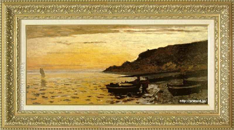 モネ 絵画 サン=タドレスの海岸 20号特寸 送料無料 【複製】【美術印刷】【世界の名画】【横長】