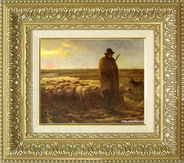 品質は非常に良い ミレー 絵画 夕暮れに羊を連れ帰る羊飼い F3号 送料無料 【複製】【美術印刷】【世界の名画】【3・4号】, 食器専門店テーブルウェアイースト dcf8acfa