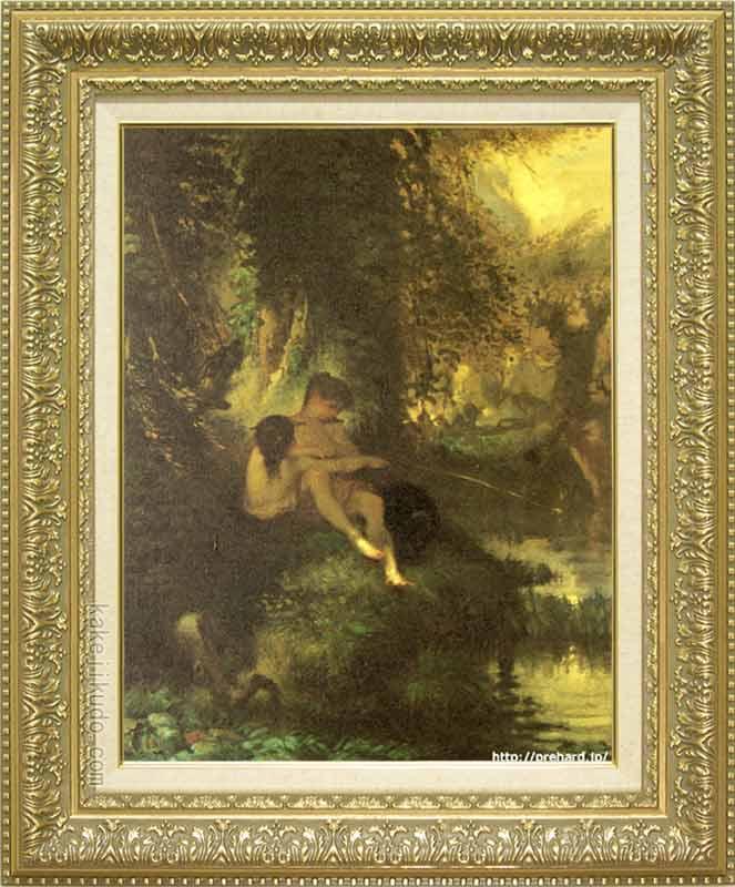 ミレー 絵画 ダフニスとクロエ P10号 送料無料 【複製】【美術印刷】【世界の名画】【10号】